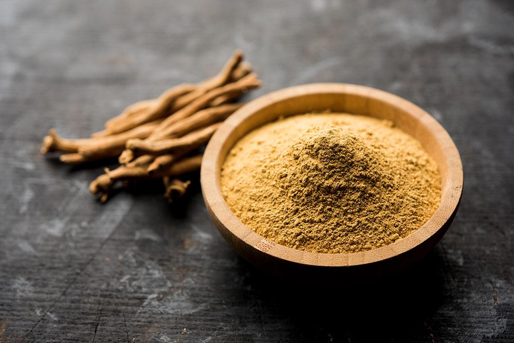 Adaptogens, herbs, supplement powder