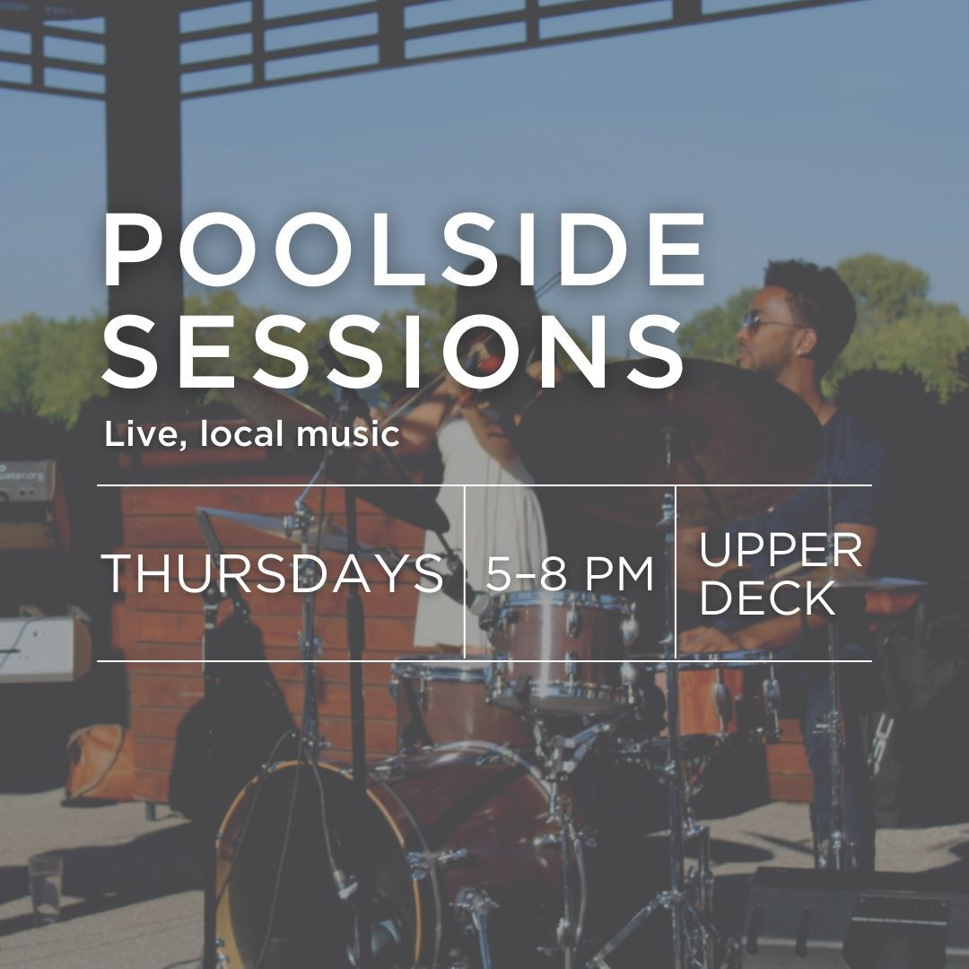 Poolside sessions with local music on Thursdays on the Upper Deck at Woodside